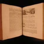 1688 Amelot BIBLE French New Testament Illustrated Holy Land Map Port Royal 3v