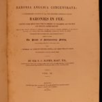 1844 Baronia Anglica Baronies of Nova Scotia Great Britain Feudal LAW Nobility
