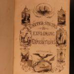 1850 1ed Capt Wilkes Pacific US Expedition Australia Antarctica California GOLD