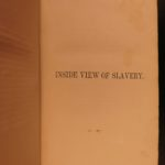1855 Inside View of Slavery Parsons Abolitionist Plantation SLAVES Beecher Stowe