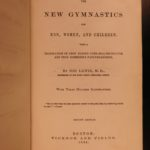 1864 Gymnastics for Men Women Illustrated Sports Fitness Health Hygiene Exercise