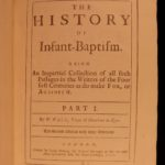 1707 Infant Baptism Wall Catholic Pedobaptism Prebyterian Protestant Controversy