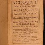 1677 1ed Domus Carthusiana History of London Charterhouse Hospital Sutton Herne