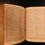 1545 1st ed Estienne BIBLE Zurich Vulgate Latin Parallel Vatablus Biblia 2v SET