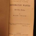 1865 Mark Twain Jumping Frog Information Wanted Helen's Babies Dalziel
