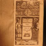 1632 Petrus Cunaeus Hebrew Republic Judaism Judaica Rome Government Elzevier