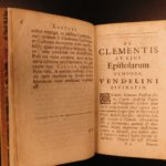 1694 Greek & Latin Epistles & Bible of Pope Clement I Early Church at Corinth
