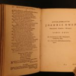 1657 Welsh John Owen Epigrammata Epigrams Protestant Catholic Prohibited Index