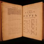 1688 Lives of Popes Platina Catholic Church Sixtus IV Sacchi English Rycaut