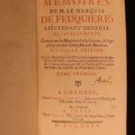 1740 Memoires of Marquis de Feuquiere French Military Tactics MAP Nine Years WAR