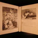 1865 HUGE & EXQUISITE Charles Perrault Fairy Tales Illustrated Cinderella Trimm