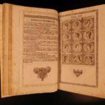 1674 Gottfried Historical Chronica Creation Persia ROME Merian Illustrated War