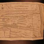 1737 Memoires of Marquis de Feuquiere French Military Tactics MAP Nine Years WAR