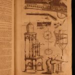 1756 Barrow Universal Dictionary Sciences Illustrated WEAPONS Guns Navigation