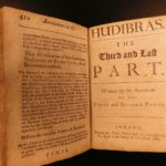 1684 1st ed HUDIBRAS English Civil War Political Satire Poetry Samuel Butler