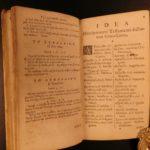 1650 Greek & Latin BIBLE Dictionary Lexicon Dutch Calvinism Georg Pasor