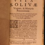 1729 Life of Saint Olivia Palermo Malatesta Arab Captive Mosque of Olive Tunisia