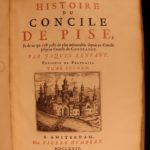 1724 1ed Council of PISA Reformation Heresy Schism Lenfant Illustrated PORTRAITS