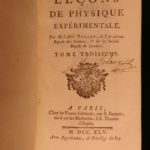 1745 EXQUISITE Physics Experiments Nollet French Science Clocks Illustrated 4v