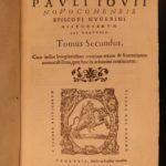 1566 Paolo Giovio Lives Historiarum Sui Temporis Italian Wars Latin Plutarch