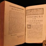 1766 Good Farmer + Political Economy Agriculture Cooking Farming Rousseau 2in1