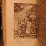 1685 Benedictine Monastics BIBLE Illustrated Chemin Royal la Croix Haeften RARE