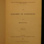 1833 Gallery of Portraits Memoirs DANTE Newton Scientists Illustrated 7v SET