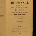 1829 History of France Anquetil Illustrated Portraits MAP Napoleon Louis XVI 15v