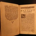 1623 John Barclay Argenis Political French Religion WARS in Medieval Manuscript