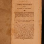 1821 1ed Secret Proceedings United States Constitution Debates Americana Yates