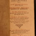 1706 History of Architecture Felibien Famous Architects Cathedrals Rome France