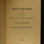 1884 Edward Lloyd's Register of Shipping British Sea Trade Ships PRIZE BINDING
