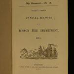 1870 Boston Fire Department Firefighters Emergency Responders Massachusetts