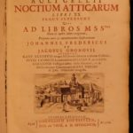 1706 Aulus Gellius Attic Nights Noctes Atticae Ancient ROME Greece Philosophy