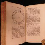 1720 1ed Jesuit Daniel on Descartes Philosophy Horology Cartesian Astrology