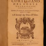 1584 Book of Courtier Baldassare Castiglione Italian Renaissance Courtesan Arts