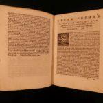 1594 1ed Italian Baldo Abbati Medicine Science Surgery Mathioli Aristotle Galen