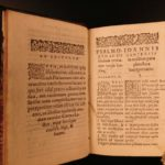 1565 Ulrich Zwingli Book of PSALMS Bible Reformation French Campen Protestant