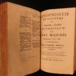 1698 Works of Xenophon Greek Philosophy Sparta Socrates WARS Leunclavius 2in1