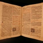 1688 FOLIO Roman Catholic Breviary Liturgical Chant Martyr Prayers Augustine