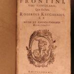 1661 Frontinus Ancient ROME Aqueducts Roman Military Engineering Farms Keuchen