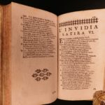 1695 1st ed Satire of Salvatore Rosa Order of the Garter ARMS! Italian Poetry