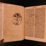 1527 VERY RARE Dominican Catholic Bible Sermons Hacqueville & Quentin Vasseur