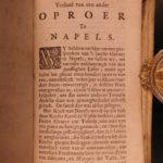 1657 Napoli History of Masaniello Revolt in NAPLES Giraffi Dutch Habsburg Spain