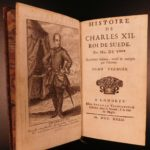 1732 History of Charles XII of Sweden by Voltaire Scandinavia Military French 2v