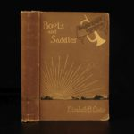 1885 1st ed Boots and Saddles General George Custer Cavalry Illustrated Indians