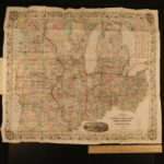 1856 1ed HUGE MAP Colton's Traveler Guide Book Illustrated Americana California