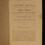1817 ECONOMICS 1st Italian ed Jean Baptiste SAY Finance Supply Demand Napoleon