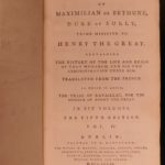 1781 Memoires of Duke of Sully France Henry IV Huguenot Utopian Europe IRISH ed