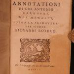 1608 1ed Giovanni Botero Memorabili Ambrose Aquinas Thomas More Popes Italian